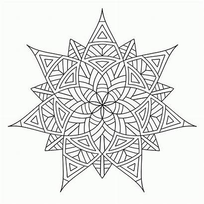 Coloring Pages Geometric Cool Printable Adults Popular