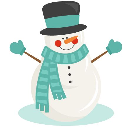 Clipart Snowman Snowman Winter Svg Scrapbook Cut File Clipart Files