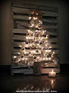 Sapin Noel Original : pallet christmas tree redhead can decorate ~ Preciouscoupons.com Idées de Décoration