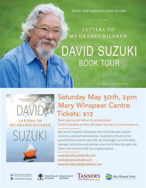 David Suzuki Books by David Suzuki Book Launch Signing Winspear