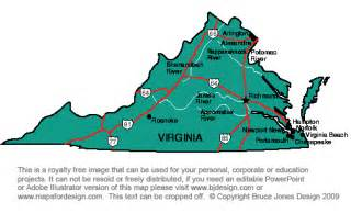 Virginia State Map Printable