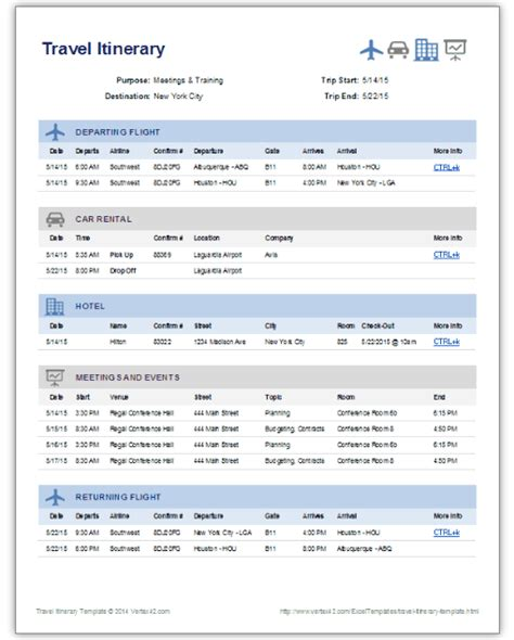 itinerary template 9 useful travel itinerary templates that are 100 free