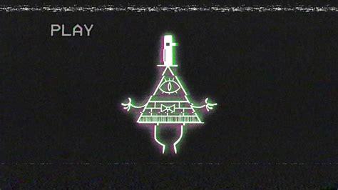 Glitched Bill Cipher Wallpaper From Gravity Falls By
