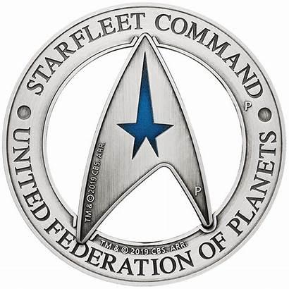 Delta Trek Star Command Starfleet Emblem Coin