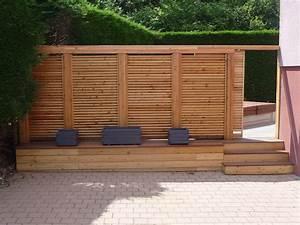 fabriquer un brise vue en bois obasinccom With brise vue avec jardiniere 10 brise vue blooma