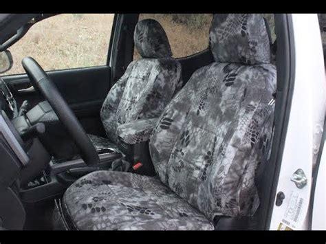 2016 Toyota Tacoma Seat Covers Kryptek Raid Pattern Youtube