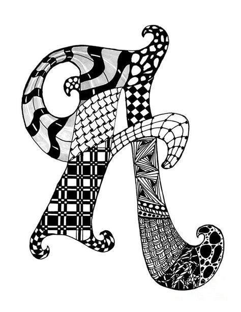 zentangle letters  pinterest illuminated letters