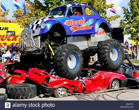 monster truck shows monster trucks drive over old cars at the monster truck