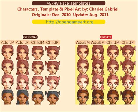 face template opengameartorg