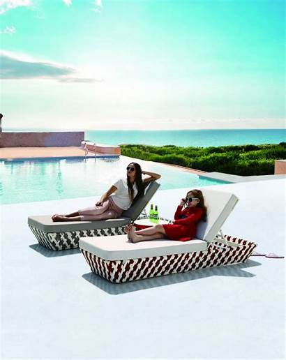 Chaise Outdoor Lounge Modern Daybed Verona Single