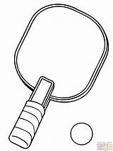 Tennis Table Racket Coloring Ball Pages Printable Clipart Badminton Soccer sketch template