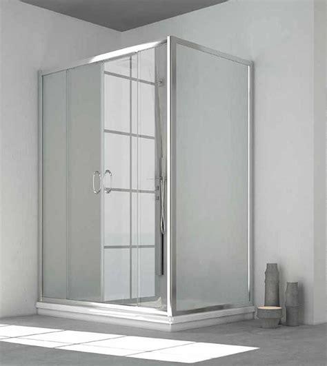 box doccia vetro temperato box doccia angolare 2 ante scorrevoli h 185 cm vetro