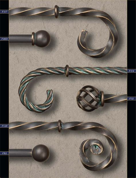 1 quot wholesale wrought iron curtain rods finials gaby s