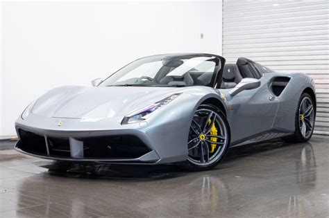 Used 2020 ferrari 488 pista with rwd, navigation system, keyless entry, fog lights, spoiler, 18 inch wheels, 20 inch wheels, heated mirrors, racing stripes, and. Used 2018 Grey Ferrari 488 Spider for sale | PistonHeads UK