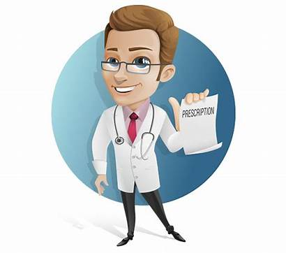 Doctor Character Vector Prescription Holding Characters Medical