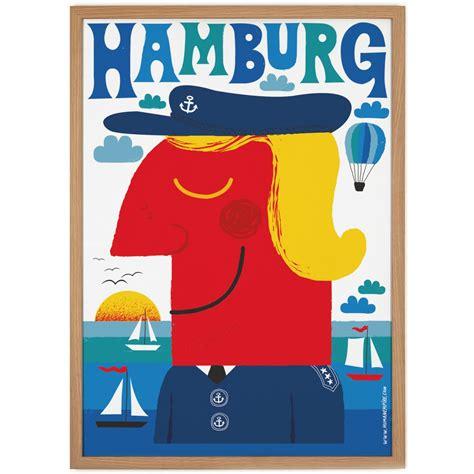 Human Empire Blaues Hamburg Poster (50x70cm) selekktcom