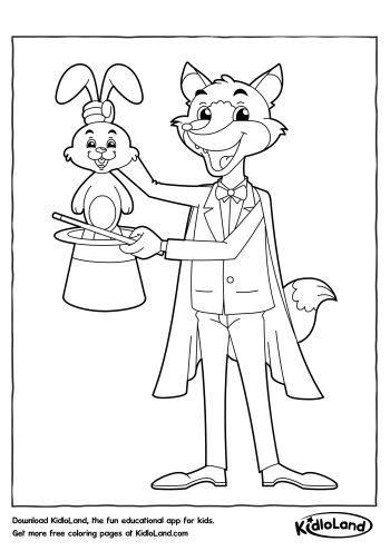 magic trick coloring page  printables   kids