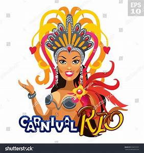 Beautiful Carnival Dancer. Rio Carnival Logo. Stock Vector ...