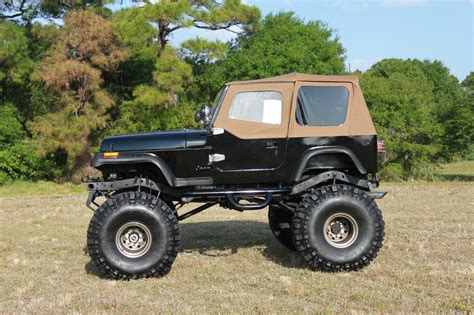 wrangler jeep lifted 1993 lifted jeep wrangler 383 stroker monster 44