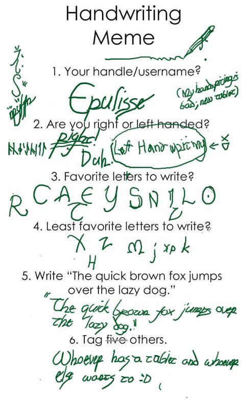 Handwriting Meme - image gallery handwritingmeme