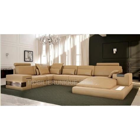 canapé en cuir design canapé d 39 angle panoramique design en cuir italien achat