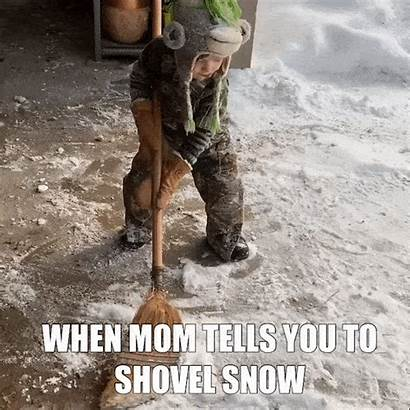 Snow Meme Shoveling Gifs Cold Giphy Funny