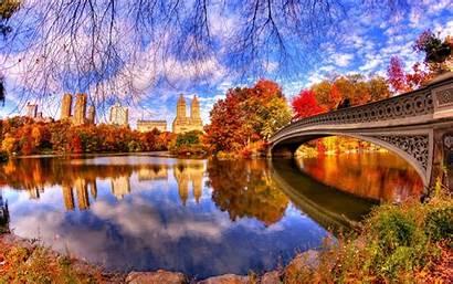 Park Central Architecture Reflection Desktop Widescreen Pc