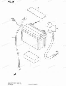 Suzuki Motorcycle 2000 Oem Parts Diagram For Battery