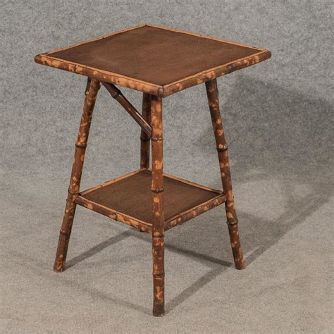 vintage side tables for antique side table l two tier bamboo 19thc antiques atlas 8844