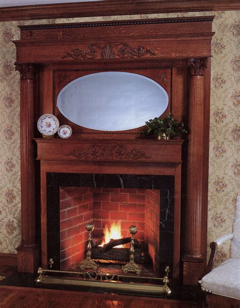 Stone Wrap Around Gray Iron Fireplace Framebox Mixed With