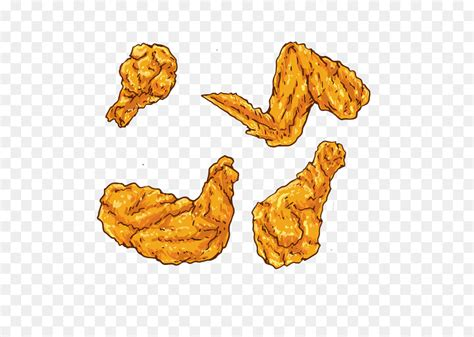 Fried Chicken Buffalo Wing Euclidean Vector Chicken And