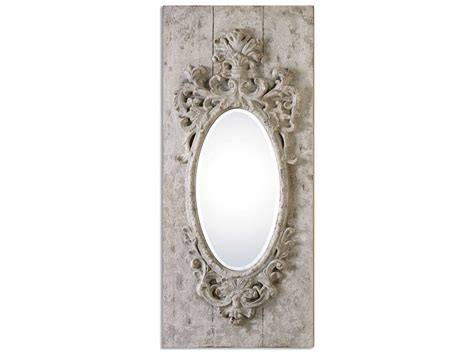 Uttermost Wall by Uttermost Guardia 21 X 48 Gray Ivory Oval Wall Mirror
