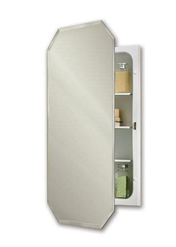nutone 1456 mirage recessed 17 3 8 quot w x 32 quot h octagon beveled mirror medicine cabinet by nutone