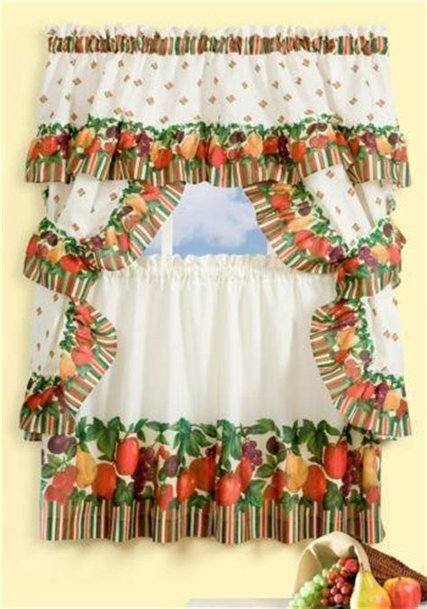 kitchen curtains with fruit design fruit kitchen curtains ebay 7909