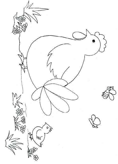 dessins de coloriage poule  imprimer