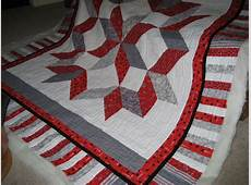 Hubby's OSU Star Quilt back from Long Arm