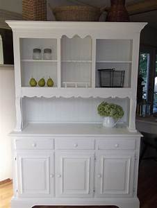 Shabby Cottage French Country Farmhouse White Hutch