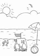Beach Coloring Pages Colouring Sheets Activity Printable Summer Scenes Preschool Australiana Activities Drawing Bestcoloringpagesforkids Items Boys Books Getdrawings Para Ocean sketch template