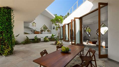 Steel Concrete And Home With Central Courtyard by Return Of The Courtyard Homes In India Ad India