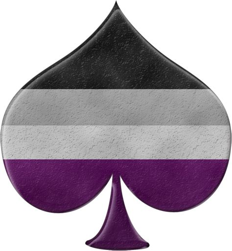 asexual colors asexual spade symbol in matching pride flag colors asexy