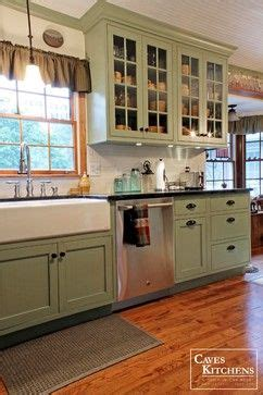 green coloured kitchens green country cottage kitchen with farmhouse sink 1361