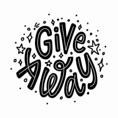 Giveaway Vector Clip Background Text Illustrations Away