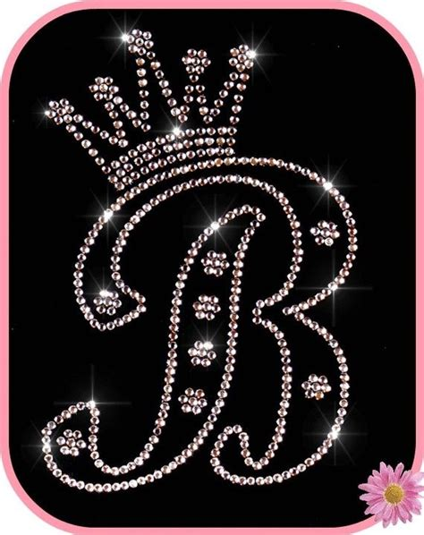 image detail  rhinestone iron  transfer monogram initial  princess crown