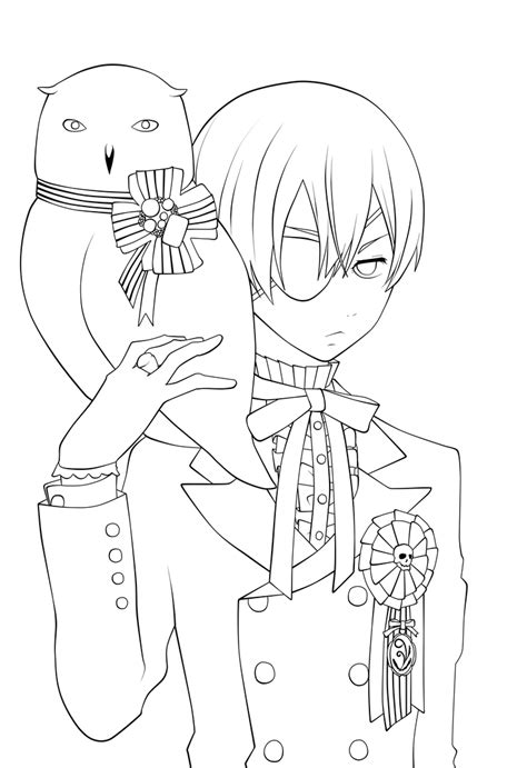 black butler coloring pages    print