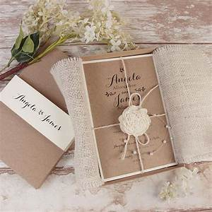 Rustic wedding invitations 15 charming ideas with natural for Rustic wedding invitations in a box
