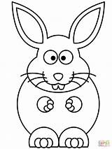 Bunny Coloring Pages Rabbit Rabbits Cartoon Easy Printable Easter Rabit Snowshoe Drawing Outline Bugs Getdrawings Ears Elephant Getcolorings Print Line sketch template