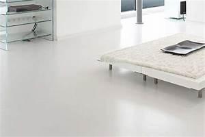 Resine Sol Blanc Brillant : b ton cir r sine cuisine salle de bain salon ~ Premium-room.com Idées de Décoration