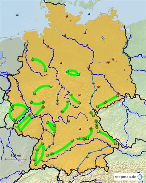 Deutschland Karte Flusse Und Gebirge.Herunterladen Stumme Karte Deutschland Flusse Gebirge