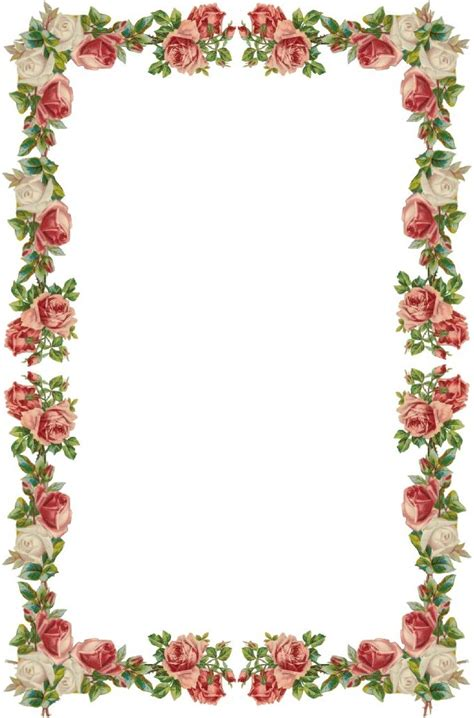 floral borders clipart clipground