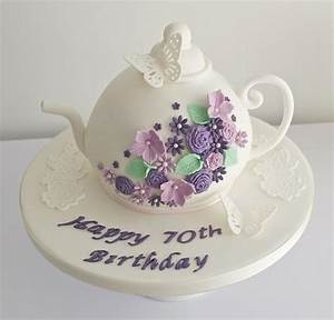 Wedding Cakes - Teapot 70Th Birthday Cake #1987648 - Weddbook